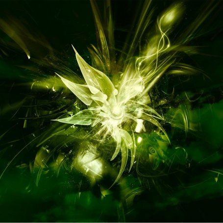 Green abstract flower